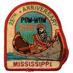1987 Mississippi PowWow patch